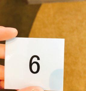マイナビエージェントの受付で使う番号札
