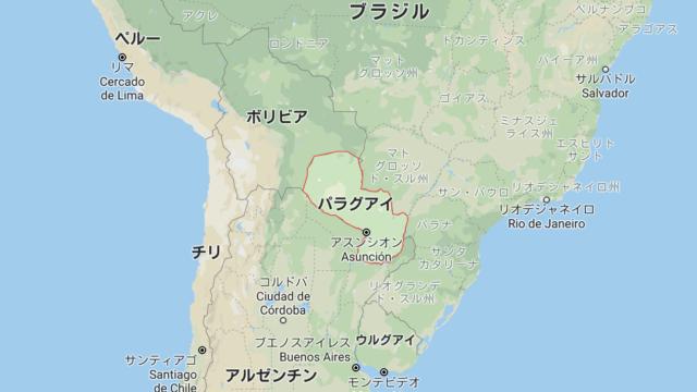 パラグアイの地図