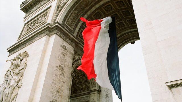 フランスで働いた日に撮影した凱旋門